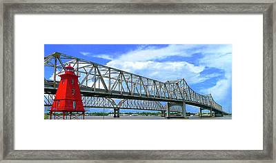 Crescent City Connection   Framed Print by Paul Michaels