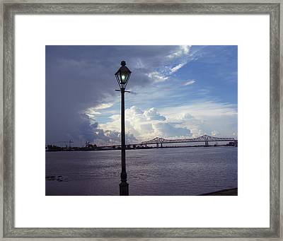 Crescent City Connection Framed Print by Tom Hefko