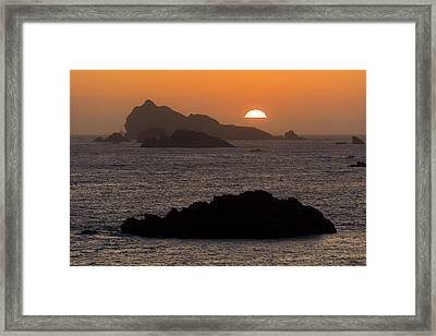 Crescent City Sunset From Battery Point Lighthouse Framed Print