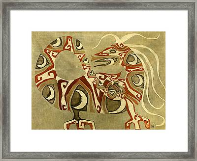 Crescent Dragon Framed Print