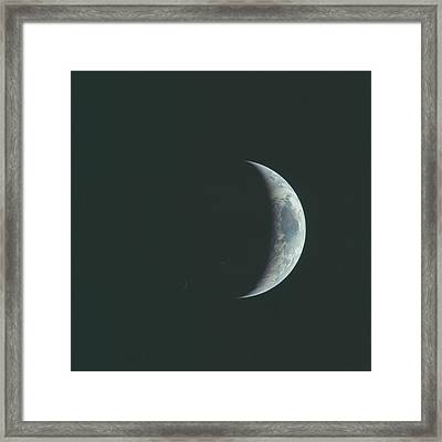 Crescent Earth Framed Print by Artistic Panda