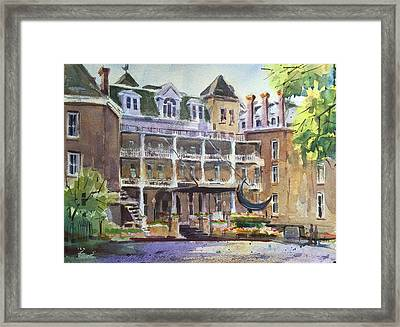 Crescent Hotel Framed Print by Spencer Meagher