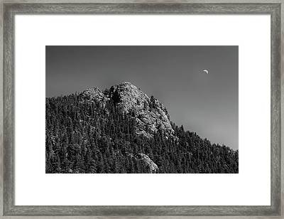 Framed Print featuring the photograph Crescent Moon And Buffalo Rock by James BO Insogna