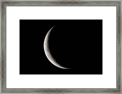 Crescent Moon In The Sky, Namibia Framed Print by Panoramic Images