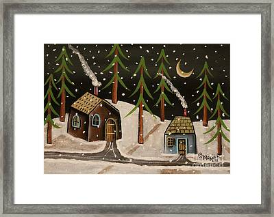 Crescent Moon Framed Print by Karla Gerard