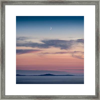 Crescent Moon Over North Uist Framed Print