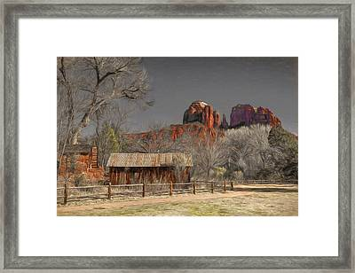 Crescent Moon Ranch Framed Print by Donna Kennedy