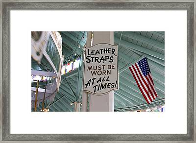 Crescent Park Looff Carousel Framed Print