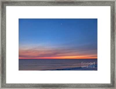 Crescent Tide Framed Print