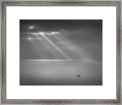 Crespecular Rays Over Bristol Channel Framed Print