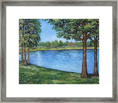 Crest Lake Park Framed Print by Penny Birch-Williams