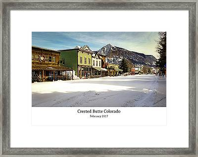 Crested Butte Framed Print