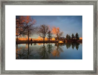 Framed Print featuring the photograph Cresting Sunlight by John De Bord