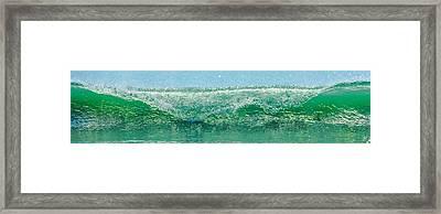 Cresting Wave Framed Print by Paula Porterfield-Izzo