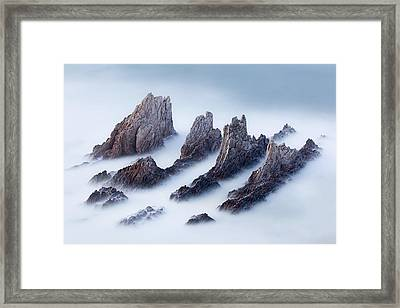 Crests And Valleys Framed Print by Jos? Antonio P?rez