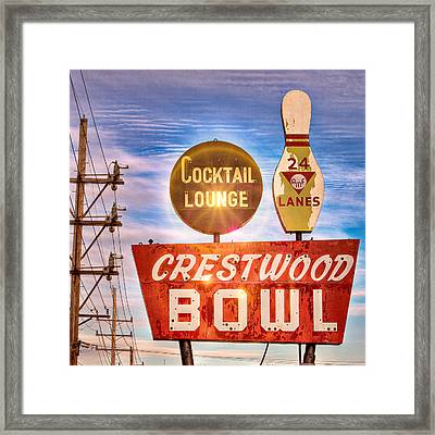 Crestwood Bowl Framed Print