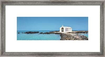 Cretan Chapel Framed Print