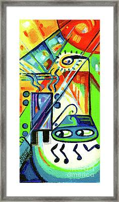 Creve Coeur Streetlight Banners Whimsical Motion 7 Framed Print by Genevieve Esson