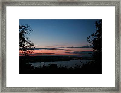 Creve Coeur Lake Sunset Framed Print