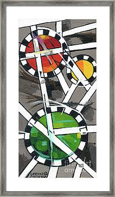 Creve Coeur Streetlight Banners Whimsical Motion 14 Framed Print by Genevieve Esson