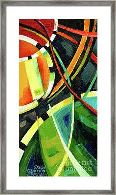 Creve Coeur Streetlight Banners Whimsical Motion 15 Framed Print by Genevieve Esson