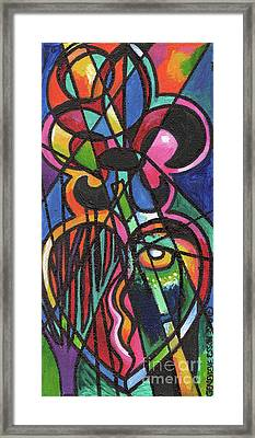 Creve Coeur Streetlight Banners Whimsical Motion 19 Framed Print by Genevieve Esson