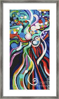 Creve Coeur Streetlight Banners Whimsical Motion 21 Framed Print by Genevieve Esson