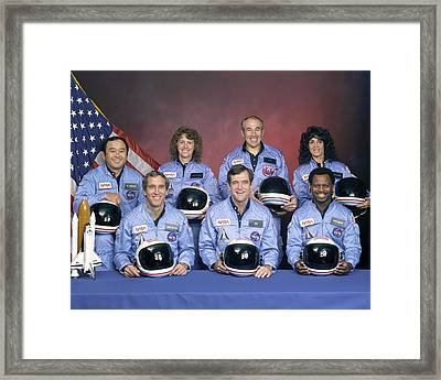 Crew Portrait Of The Challenger Framed Print by Everett