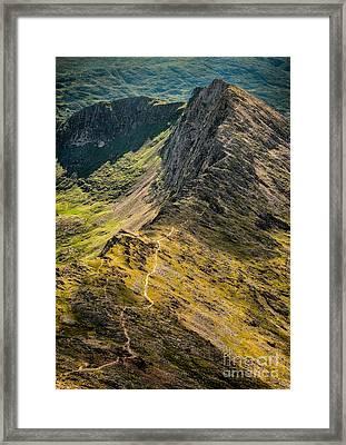Crib Goch Framed Print by Adrian Evans