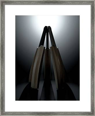 Cricket Back Circle Dramatic Framed Print by Allan Swart