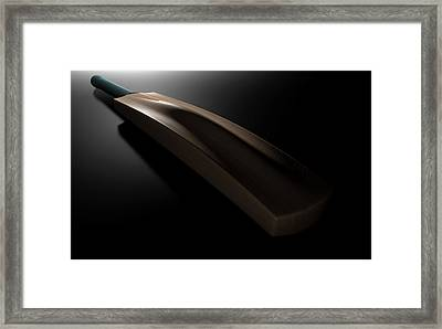 Cricket Bat Dark Framed Print