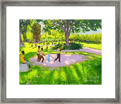 Cricket Practice Framed Print