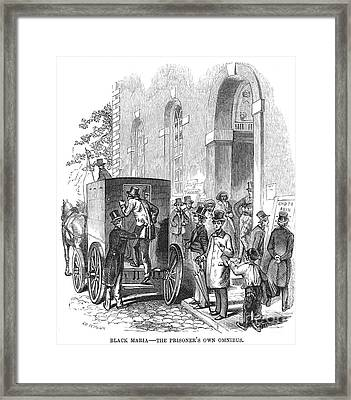 Crime: Policeman Framed Print