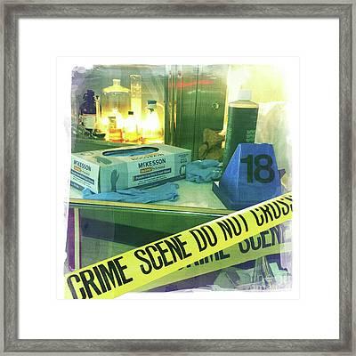 Crime Scene Do Not Cross Framed Print