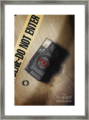 Crime Scene Evidence Of The Betrayal Framed Print by Jorgo Photography - Wall Art Gallery