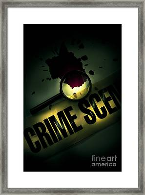 Crime Scene Investigation Framed Print by Jorgo Photography - Wall Art Gallery