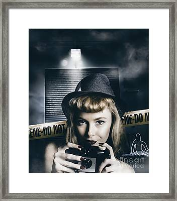 Crime Scene Photographer Framed Print