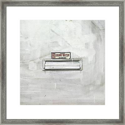 Crime Watch Mailslot Framed Print