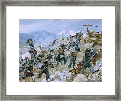 Crimean War And The Battle Of Chernaya Framed Print by Italian School