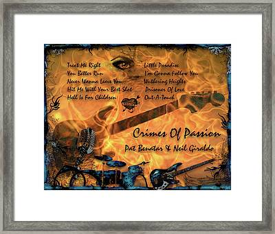 Crimes Of Passion Framed Print by Michael Damiani