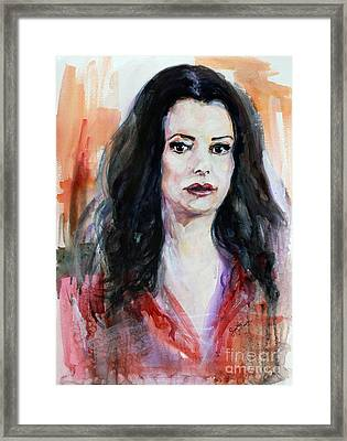 Criminal Minds Emily Prentiss Framed Print by Ginette Callaway