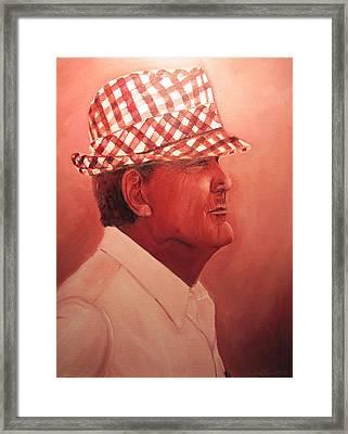 Crimson Bear Framed Print by Sheila Gunter