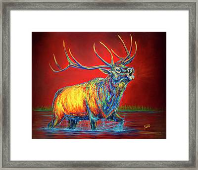 Crimson Cries Framed Print by Teshia Art