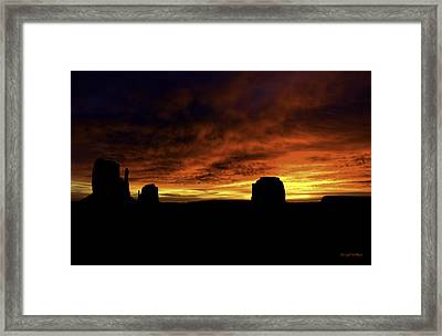 Crimson Framed Print by Darryl Gallegos
