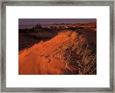 Crimson Dunes Framed Print