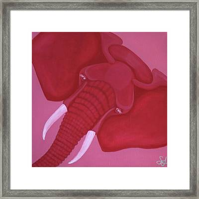 Crimson Elephant Framed Print