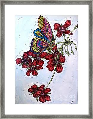 Crimson Fancy Framed Print