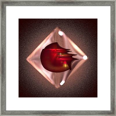 Crimson Heart Framed Print by Viktor Savchenko