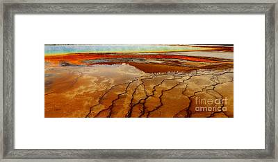 Framed Print featuring the photograph Crimson River by Robert Pearson