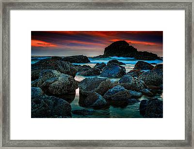 Crimson Skies Framed Print by Rick Berk